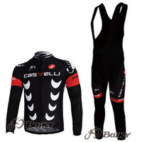 Wholesale Highly Quality CASTELLI Winter Thermal Fleece Long Sleeves Bib Cycling Jersey Cycling Clothes