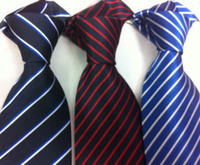 Wholesale Mens south korea silk Stripe Necktie Stripe tie Business Tie Plain jacquard ties mixed pc