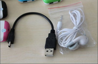 Wholesale by CN mp3 accessories earphone pin usb cable for mp3 player