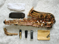 Wholesale XG Golden High abalone shell KEY ALTO Saxophone freecase