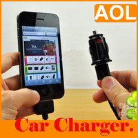 Wholesale 30PCS One amp Double USB Micro Auto Charger Adapter F8Z445 Mini Car Charger for Phone GOOD CHOICE