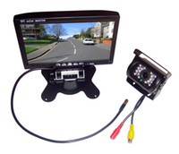 Wholesale Waterproof IR LED Night Vision Reversing Camera quot TFT LCD Monitor Car Rear View Kit For Bus Long Truck free m video cable