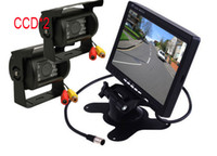 Wholesale 2 x CCD Reverse Camera quot LCD Monitor Car Rear View Kit X m video Cable for Long Truck Bus