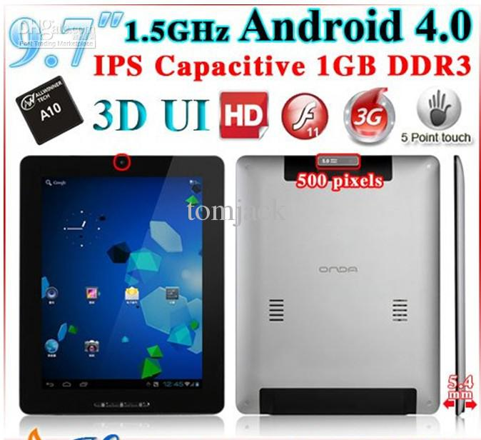 "vi40 elite android 4 0 16gb / 8gb tablet pc 9 7"" capacitive ips screen"