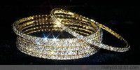 Wholesale CZ Crystal Diamond Bangle Gold Plated KGP mm in Dia JB3028