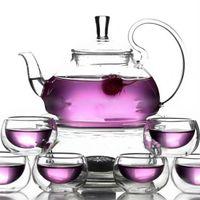 teapots - ml Glass Teapot Double Wall Glass Cups Warmer