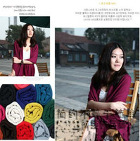 Wholesale Hot Womens girl cotton keep warm scarf candy color shawl sweet neckerchief candy scarves