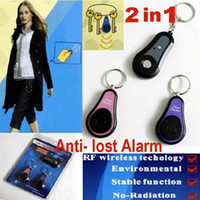 Wholesale 2 In1 Anti lost Alarm RF Wireless Electronic Key Finder Locator Key Chain transmitters Receivers