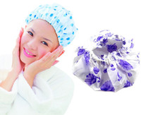 Wholesale 1000pcs Printed Shower Cap Disposable Lace Bathing Caps Family Barber s Cap Bathroom Hats