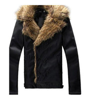 Wholesale New Slim Korea Designed Mens fur collar Pu Leather Jacket Coat mans jackets hot sale n