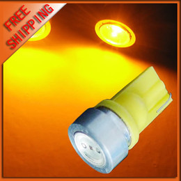 Wholesale 50 PCS T10 abuot 1W 194 168 SMD high power 1 LED light Bulbs Car Side Light Bulb