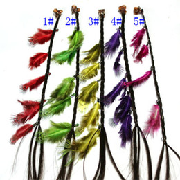 Wonderful style!Fashion Feather hair Accessories feather hair extensions braid headband Handmade