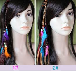Hotsale Handmade Hair Headband Braid Hair Jewelry Feather Extensions Hair Clips For Women Fashion New 10pcs lot