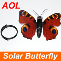 Red solar butterfly - Hot Selling Solar Toy Solar Power Simulation butterfly Solar Power Toy kid with Toy gifts Toy