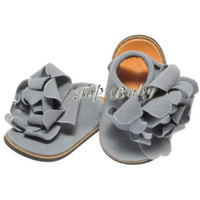 Wholesale grey baby first walker shoes TOP BABY baby shoes flower infant shoes kids shoe children s shoes