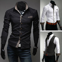Long Sleeve dress shirt for men - Mens Casual Shirt Mens Designer Shirt Men White Shirt Dress Shirt for Men MS274