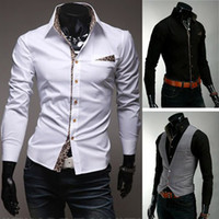 Wholesale Mens Casual Shirt Mens Designer Shirt Men White Shirt Dress Shirt for Men MS274