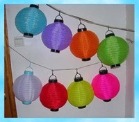 Wholesale On sales Solar Chinese Lantern Party Light Garden Lamp Decor kare by DHL