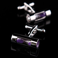 Wholesale Violet hourglass cufflinks men s cuff links