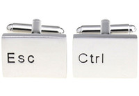 Wholesale CTRL ESC Keyboard key shaped cufflinks Men s cuff links