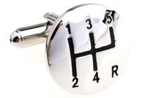 Wholesale Car stalls shaped Cufflinks Mens cuff links