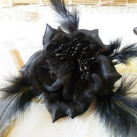 Bohemian Women's Party New arrive!!brooch pin jewelry flower hair clip royal feather hair clip flower brooches