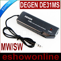 Wholesale NEWEST DEGEN DE31MS INDOOR ACTIVE SOFT LOOP ANTENNA FOR MW amp SW A0797A