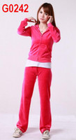 Wholesale New Style Brand Women Fashion Hoodies Velour Track Suits Lie Fallow Tracksuits Cheap Outwear red