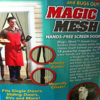 bamboo door screens - Magic Mesh Bugs out Magnetic Hands free Screen door