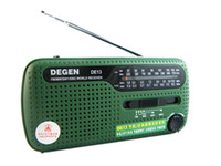 Wholesale DEGEN DE13 FM MW SW Crank Dynamo Solar Emergency Radio World Receiver A0798A
