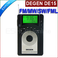 Portable banding lcd - DEGEN DE15 FM Stereo MW SW FML LCD Radio World Band Receiver Alarm Quarz Clock A0902A