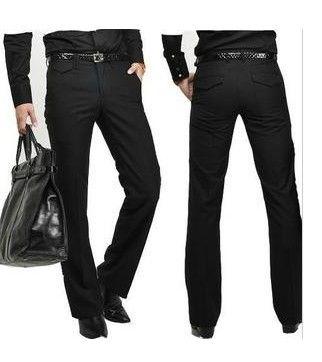 Hot Sale Men's Suit Pants Flat Business Casual Trousers Slim ...