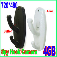 4G   4GB Mini Clothes Hook Spy Camera Cam Hidden Pinhole DVR Dv 30Fps Black white