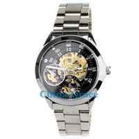 Wholesale Best Quality Men Dress Stainless Steel Automatic Mechanical Watch Modern Skeleton Watches W131