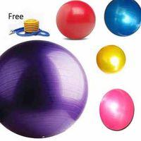 Wholesale Yoga Ball PVC Yoga Balls Fitness Ball Explotion Balance Trainer Plates Fitness Ball