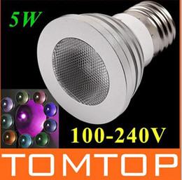 85-265v 5W E27 RGB led lamp Color Change LED RGB Light Bulb with Remote Control free shipping