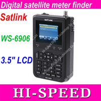 Wholesale Hot Satlink WS WS6906 DVB S quot FTA WS Digital Satellite Finder Meter DHL Free Ship