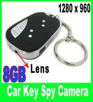 Wholesale Hidden Car Key spy camera Remote Micro Camera Mini DV DVR keychain GB card