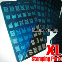 Wholesale 8Style Design FOR CHOOSE XL Image Stamp Stamping Plate French Nail Art BIG Print Template Stencil