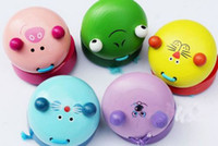 Wholesale Cartoon Animals Castanets Pigs cats rats frog lion Wooden Sound Board Baby Kids Toy Preschool Toys