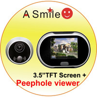Wholesale Digital peephole viewer TFT LCD Screen wireless video door phone intercom systems from asmile