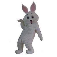 easter bunny costumes - White adult easter bunny bug white rabbit adult cartoon mascot costume Fancy Dress