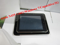 Wholesale WIN7 Android2 Intel ATOM N455 GHz table pc inchTFTcapacitive touch screen pc