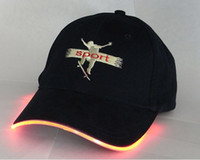 Wholesale LED Baseball Hat Light up Glow cap Rave Halloween amp Party colors