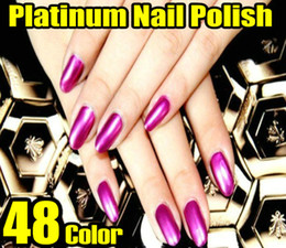 Wholesale Newest Foil Nail Polish Platinum Serires Metallic Shiny Nail Polish Color Available HOT SALE