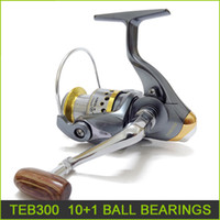 Wholesale 100 new plastic fishing reels Ball bearing spinning reels fishing tackle TEB300