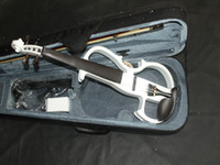 Wholesale Beautiful White Electric Violin with case Musical instruments