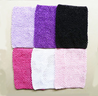 Wholesale 9x10 inches Large Crochet tube top tutu top Mixed color per