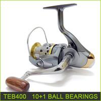 Wholesale fishing reels brand new Ball bearing spinning reel fishing tackle tools gear TEB400