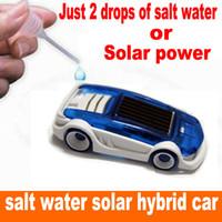 Новые энергии игрушка Солнечной и соленой воды гибридный автомобиль солнечной энергии игрушка соленой воде игрушечный автомобиль для детей подарок